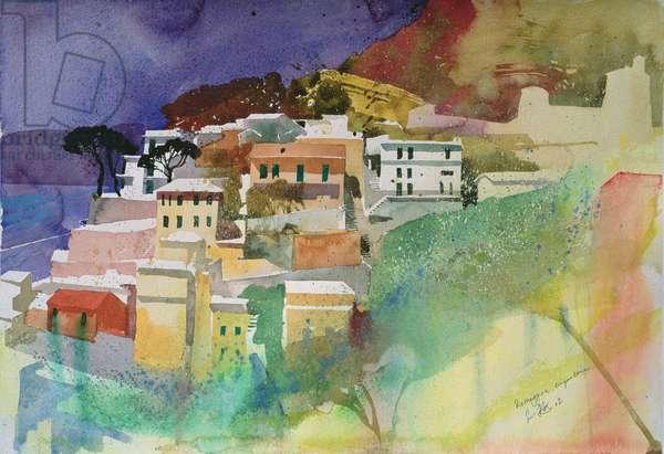 Riomaggiore cinqueterre, Italy, 2002 (watercolour)