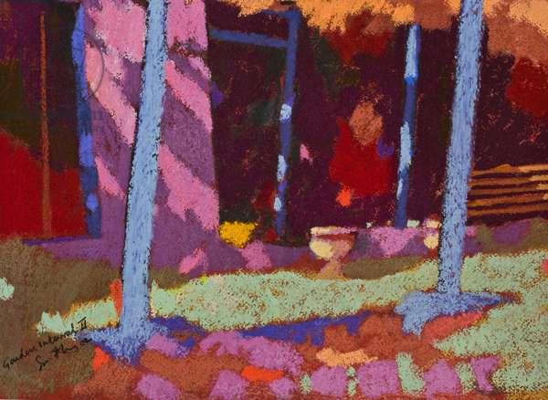 Garden Interval (pastel on paper)