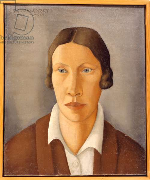 STRAVINSKY, Catherine - painting of  wife of Igor STRAVINSKY painted in 1925 by their son Théodore Stravinsky