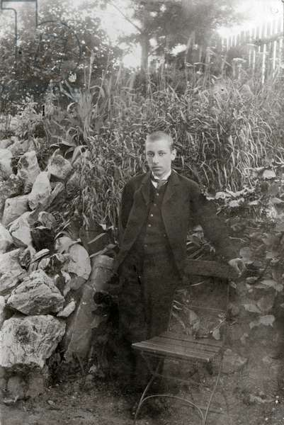 Igor Stravinsky aged 15 in Russia
