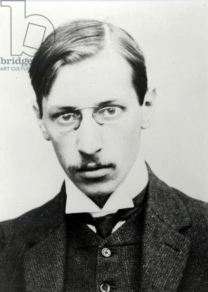 Igor Stravinsky portrait in 1907