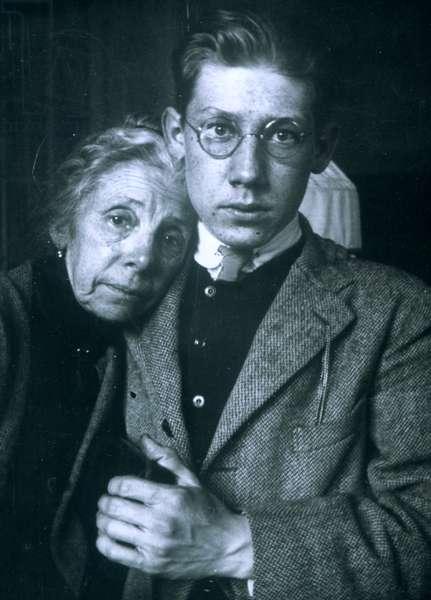 Théodore Stravinsky (son of Igor) at Biarritz, 1923 with his grandmother Anna Stravinsky