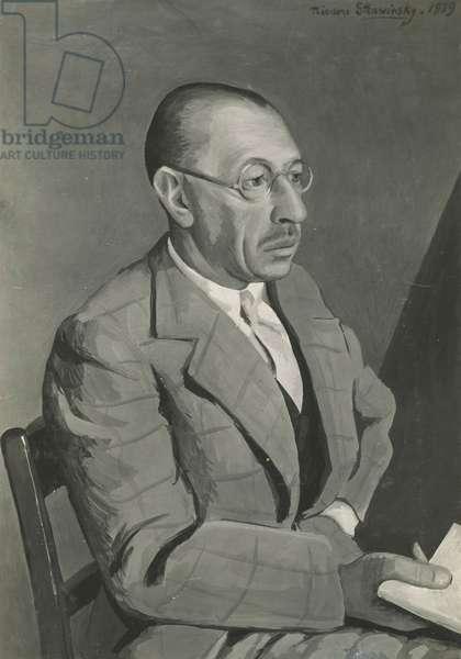 Portrait of the artist's father, Igor Stravinsky, gouache, 1939