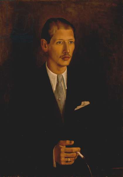 STRAVINSKY, Soulima - painting of second son of Igor Strawinsky, painted in 1933 by his brother Theodore Strawinsky Oil on canvas