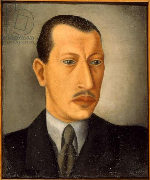 Igor Stravinsky, portrait painted in 1925 by his son Théodore Stravinsky