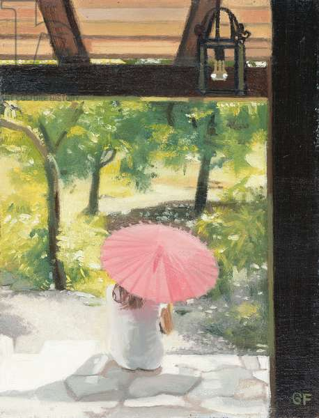 The Pink Parasol, 2006 (oil on board)