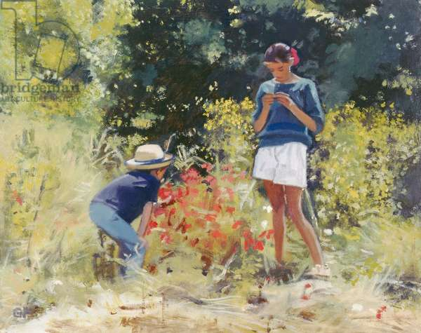Picking Poppies, 1997 (oil on board)