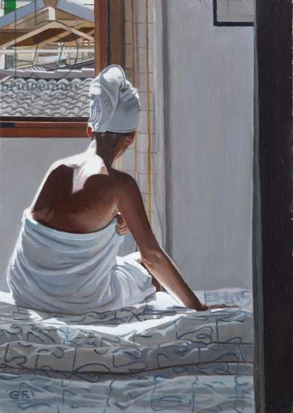 After the Shower: Palma, 2012 (oil on board)