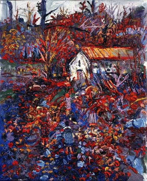 La Chapelle, L'Hiver (oil on canvas)