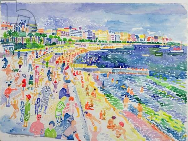 La Croisette, Cannes (w/c on paper)