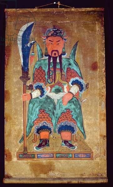 Gwanwoojanggun (natural pigment on paper)