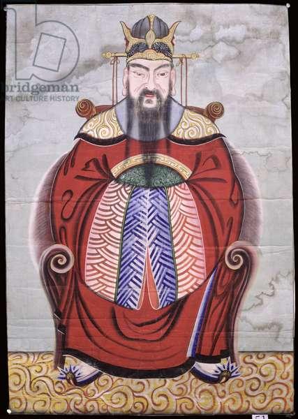 Okhwangsangje (colour on silk)
