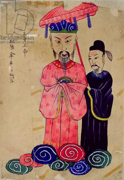 A Korean deity or 'Okhwangsangje' (natural pigment on paper)