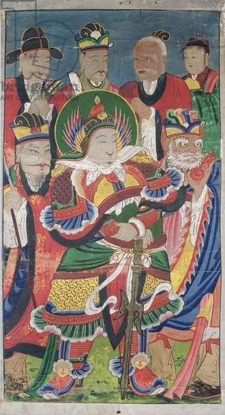 Sinjang (colour on silk)