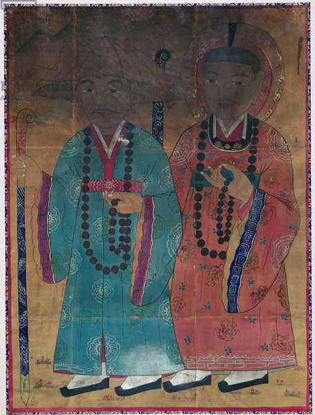 Deasa (natural pigment on silk)