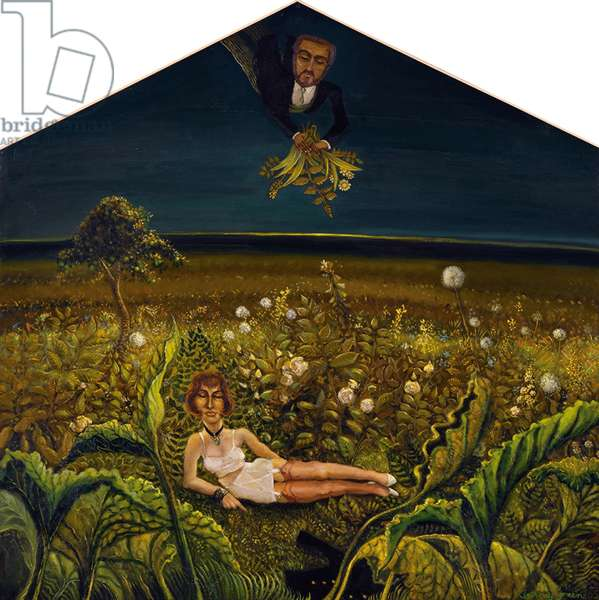 The Garden of Eden, 1965 and 2007 (oil on board)