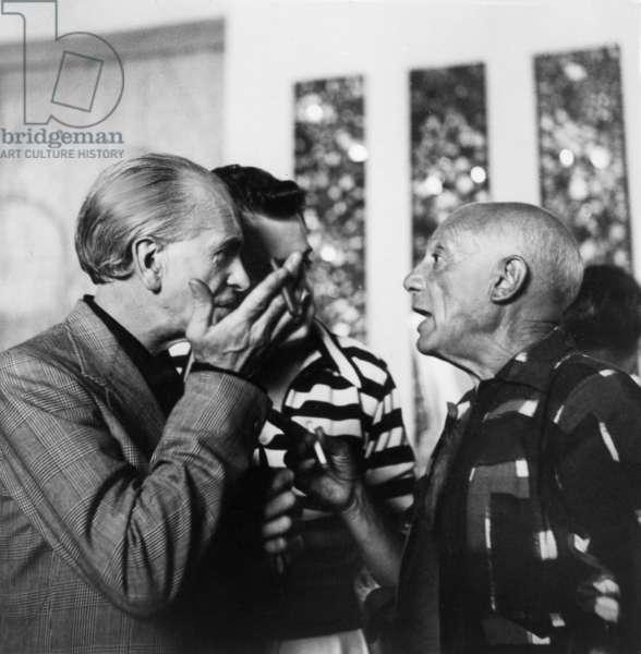 Georges De Vertury (painter and ceramicist) and Pablo Picasso c. 1950