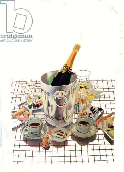 Champagne, c.1980-90 (lithograph)