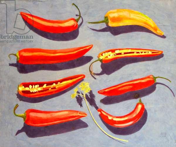 Chilli Peppers, 1995 (tempera)