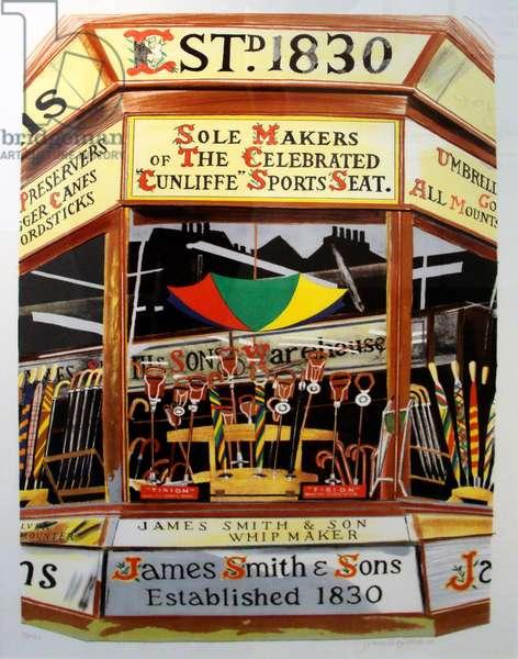 James Smith & Sons (Umbrella Shop), c. 1980-99 (watercolour)