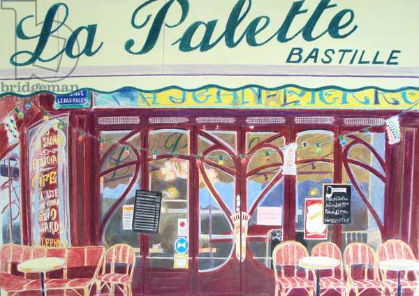 La Palette Bastille, c.1980-1999 (watercolour)