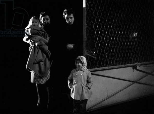 Strike of miners' wives, 1963 (b/w photo)