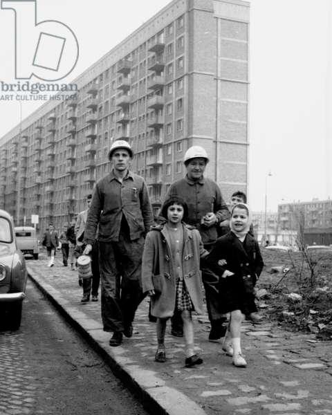 Miners strike, France, 1963 (b/w photo)