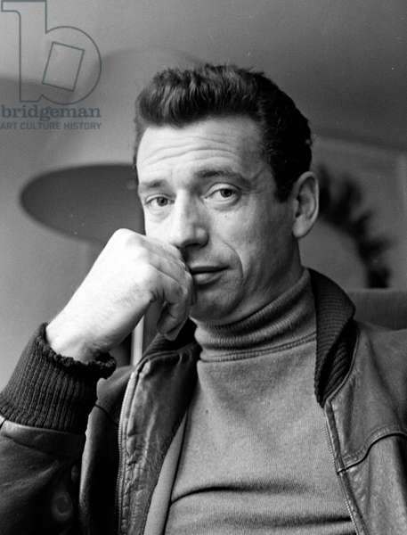 Actor Yves Montand, 1953 (b/w photo)