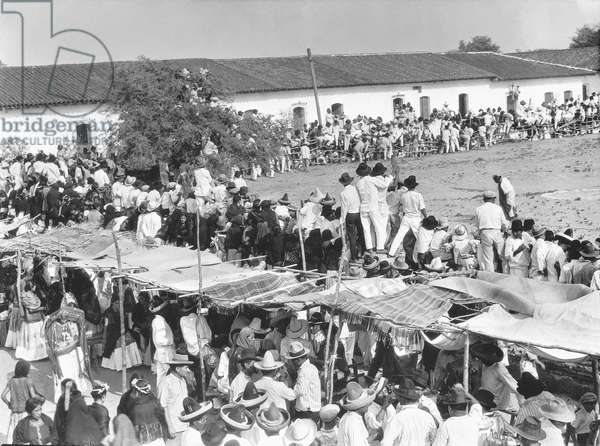 Fiesta in Juchitan, Oaxaca, Mexico, c.1927 (b/w photo)