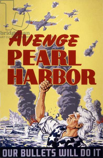 Avenge Pearl Harbor, 1943 (colour litho)