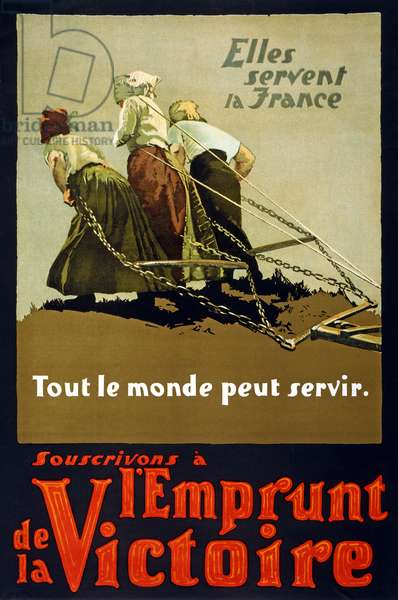They serve France - Everyone can serve - Buy Victory Bonds, 1918 (colour litho)