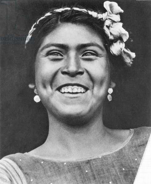 Woman of Tehuantepec, Mexico, 1929 (b/w photo)