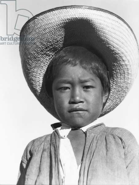 "Son of a Campesino, A proud little ""Agrarista"", State of Veracruz, Mexico, 1927 (b/w photo)"