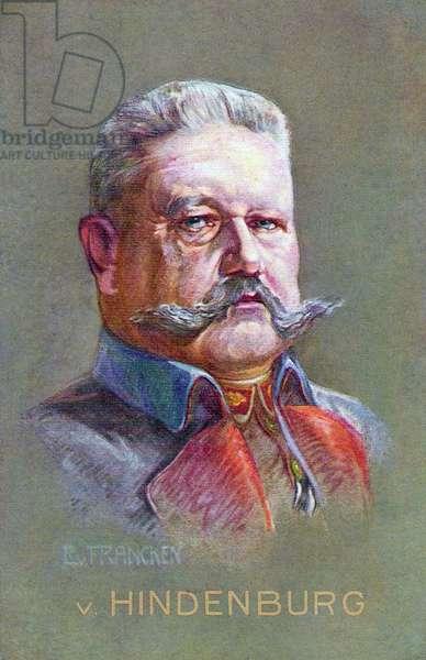 General Field Marshal von Hindenburg, 1912 (colour litho)