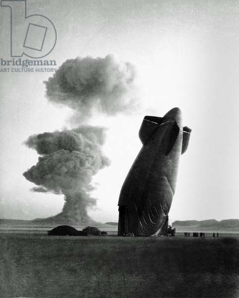 The Franklin Prime nuclear test in Nevada, August 30, 1957 (b/w photo)