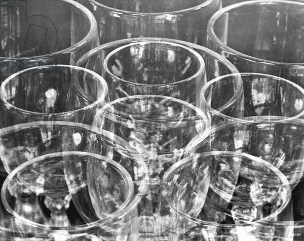 Wine Glasses (Experiment with Similar Forms), Mexico City, 1925 (b/w photo)