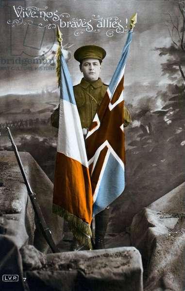 Long Live our Brave Allies!, 1915 (colour litho)