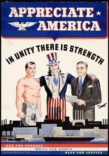 Appreciate America, 1943 (colour litho)