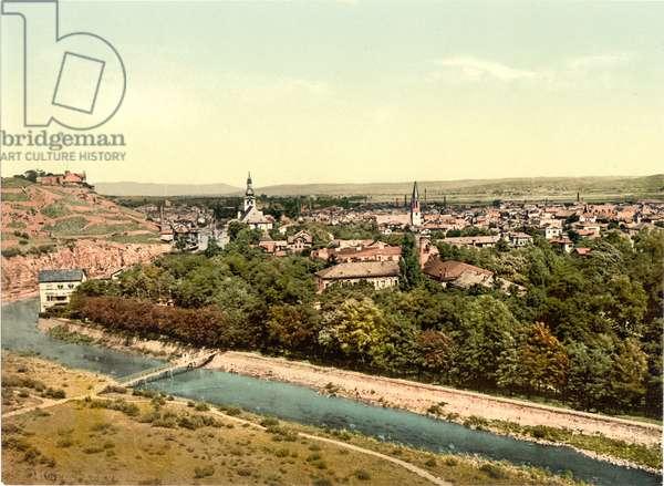 Kreuznach (Bad Kreuznach), Nahethal, Rhenish Prussia, Germany, c.1900 (colour litho)