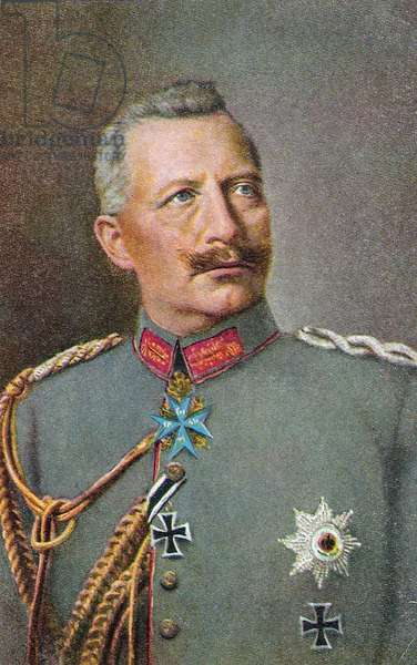 Kaiser Wilhelm II, 1915 (colour litho)