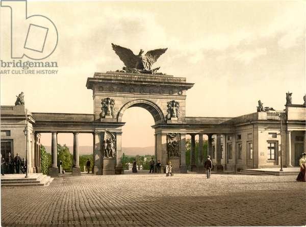 Krieger Monument, Thor Cassel, Hesse-Nassau, Germany, c.1900 (colour litho)