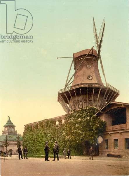 Windmill, Potsdam, Germany, c.1900 (colour litho)
