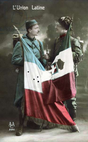 Latin Union, 1915 (colour litho)