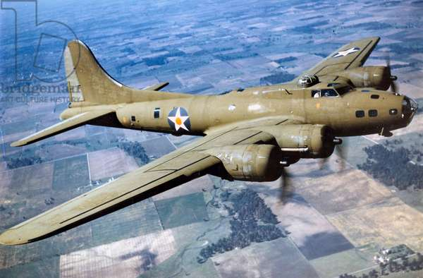 A Boeing B-17 Flying Fortress, 1944 (b/w photo)
