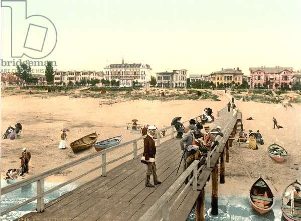 Ahlbeck, Germany, c.1900 (colour litho)
