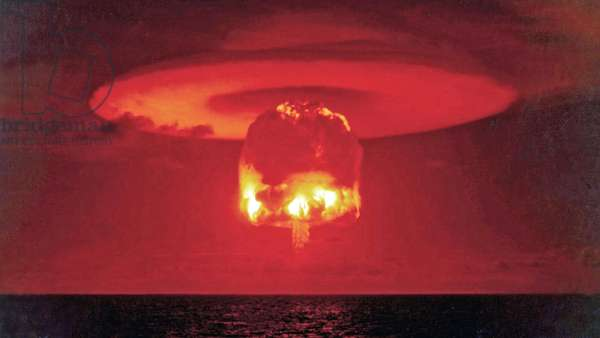 Castle Romeo was the code name given to one of the tests in the Operation Castle series of American nuclear tests, Bikini Atoll, 1954 (photo)
