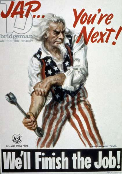 """""""Jap...You're Next! We'll Finish the Job"""", poster of the Office for Emergency Management, c.1943-45 (colour litho)"""