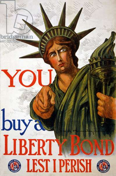 """YOU Buy a Liberty Bond"", 1917 (colour litho)"
