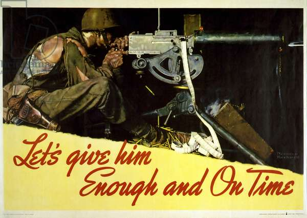 Let's Give Him Enough and On Time, 1942 (colour litho)