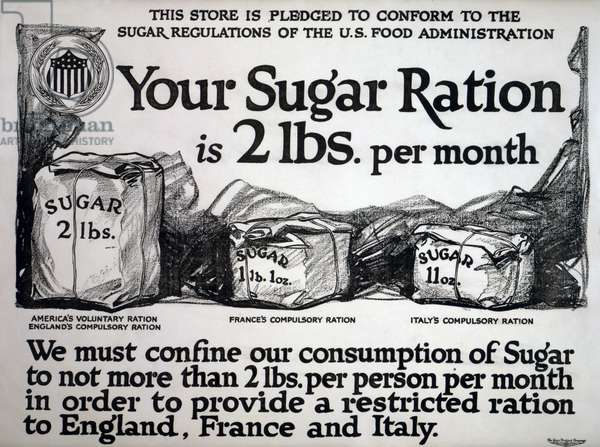 Your sugar ration is 2 lbs. per month, 1917 (litho)